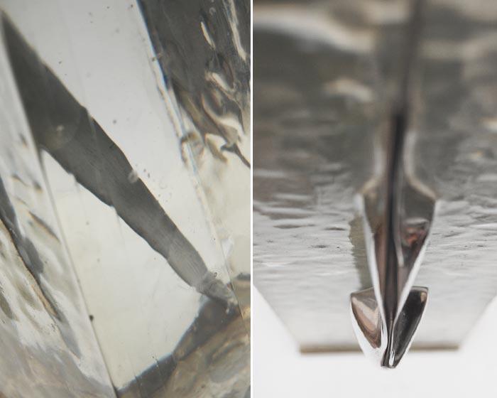 Espiga aluminio en resina